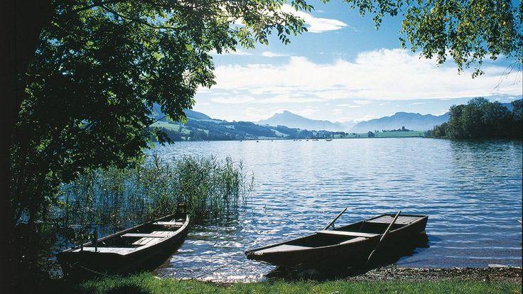 Lac d'Irrsee.  Irrsee, Zell am Moos am Irrsee. Austria