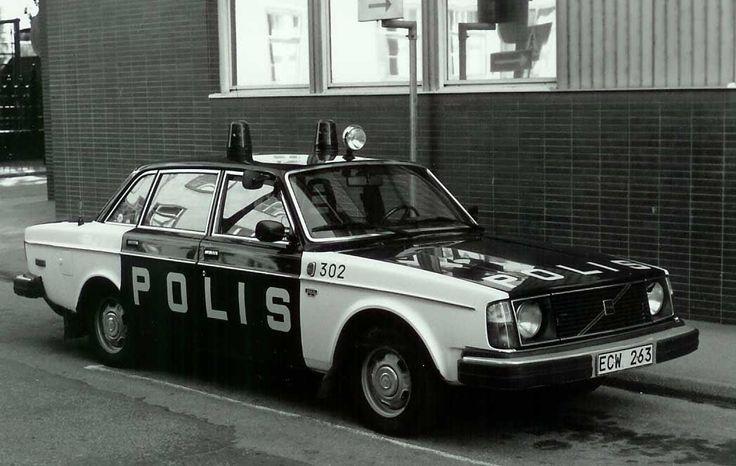 Volvo 244, 1976, Swedish police car, Stockholm