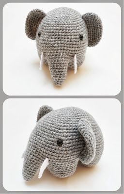 FREE Amigurumi Elephant Crochet Pattern and Tutorial -- I know I already have an elephant but...I need this one!