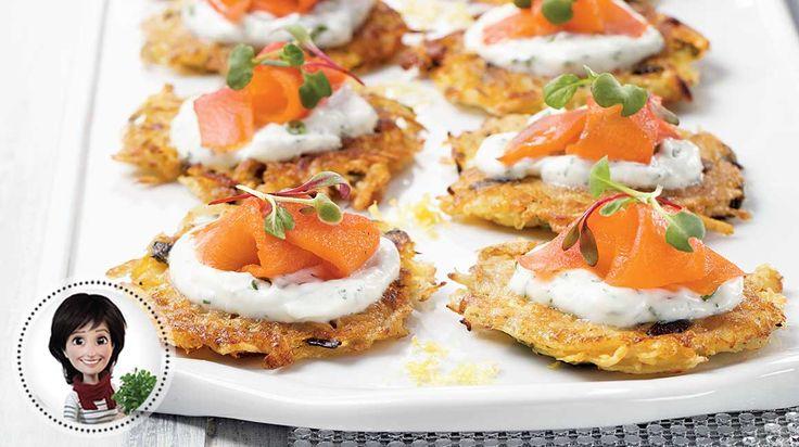 Röstis de pommes de terre et saumon fumé