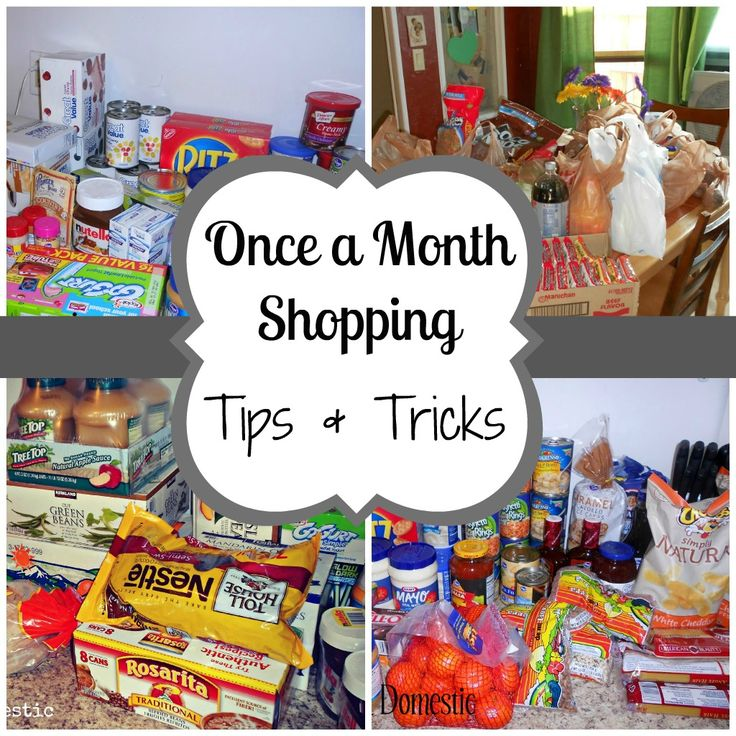 Once a Month Shopping - Tips & Tricks