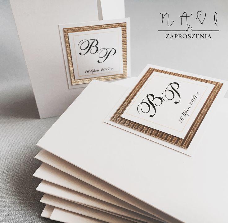 Zaproszenie ślubne z odrobiną złota 🙂 #zaproszenia #zaproszeniaslubne #elegance #eleganckie #białe #zlote #złote #gold #invitations #zaproszenie #wesele #slub