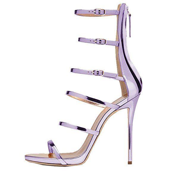 Bow Tie, Damenschuhe, High Heels, Sandalen, Schuhe der feinen Ferse Frauen, Violett, 39