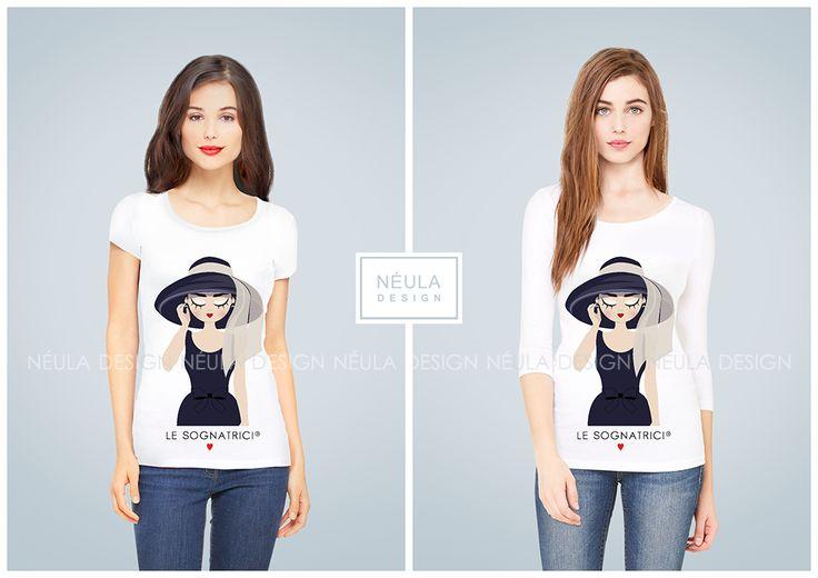 T-shirt Holly Blu - Le Sognatrici - Audrey Hepburn - Colazione da Tiffany - Breakfast at Tiffany's - www.lesognatrici.com