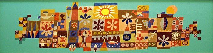 Mary Blair Artwork at Providence St. Joseph Medical Center - Disney's True-Life California Adventure - by Matthew Walker - StartedByAMouse.com Happenings Section