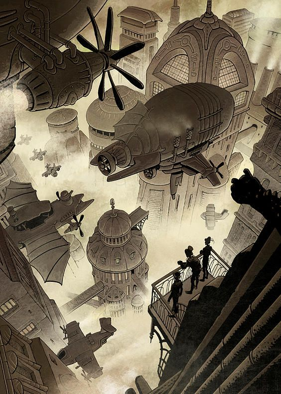 - steampunktendencies:   Illustrations by Penko...