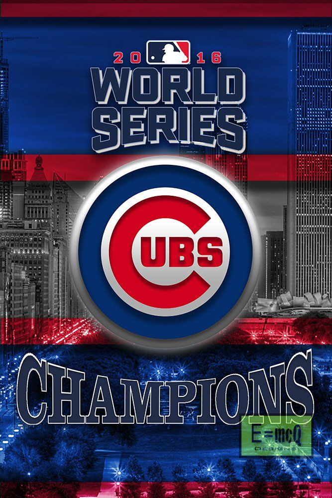 Chicago Cubs World Series Poster, Cubs World Series Artwork Cubs Gift,                      – McQDesign