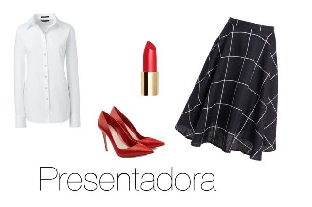 """""""Presentadora"""" by fsh-style on Polyvore featuring Lands' End y Alexander McQueen"""