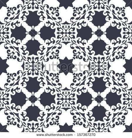 Background vintage flower. Seamless floral pattern. Abstract wallpaper. Texture royal vector. Fabric illustration. by AnaMarques, via Shutte...