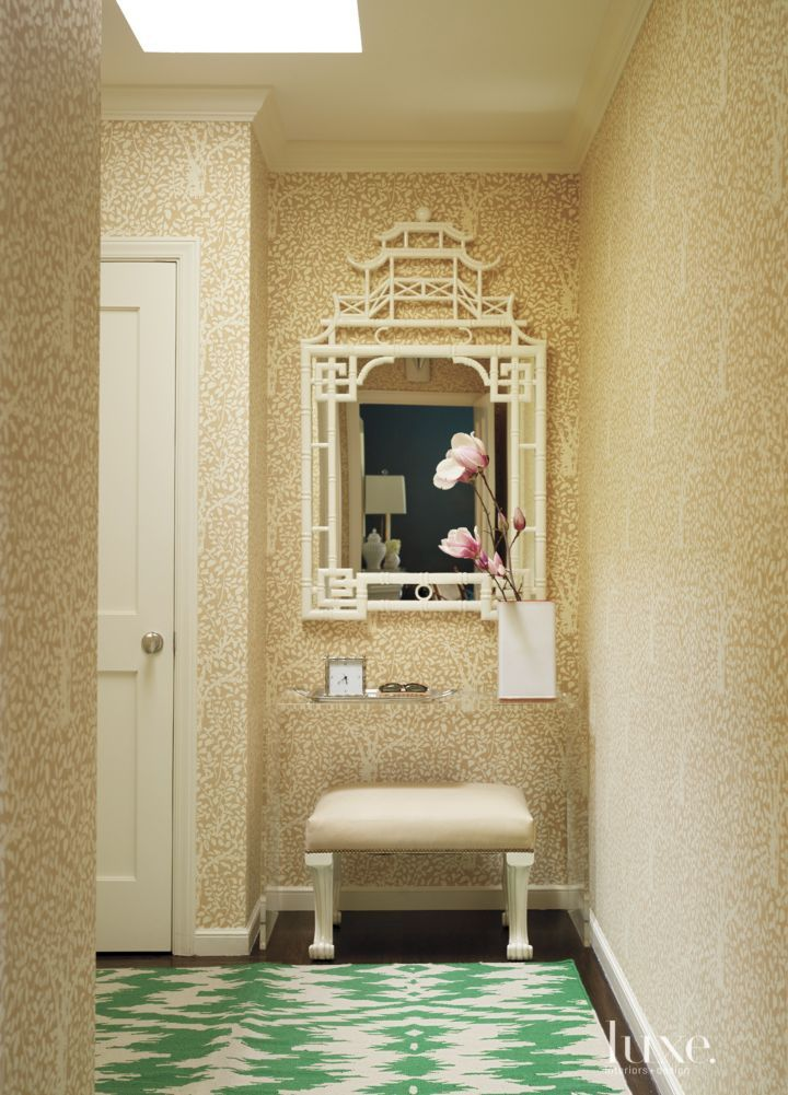 China Seas Wallpaper Creates A Whimsical Backdrop For Fun Yet Functional Pass Through From