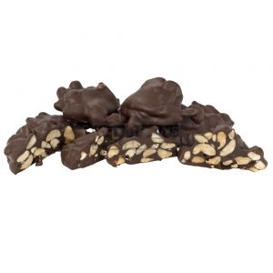 A bulk box of Kellys Peanut Clusters.