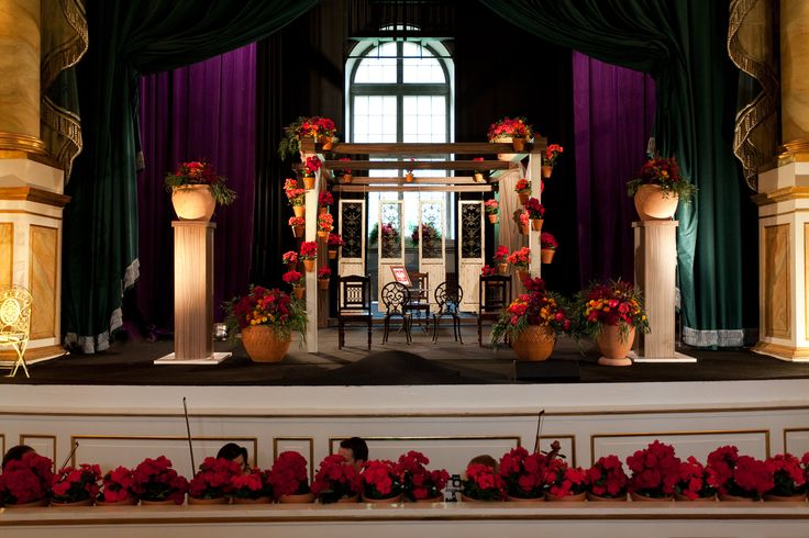 Andalusian wedding ceremony decor by artsize.pl