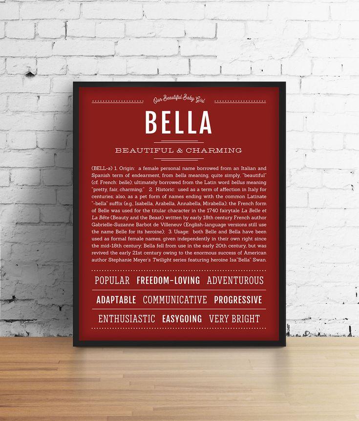 Bella | Name Art Print in 2020 | Personalized art print ...