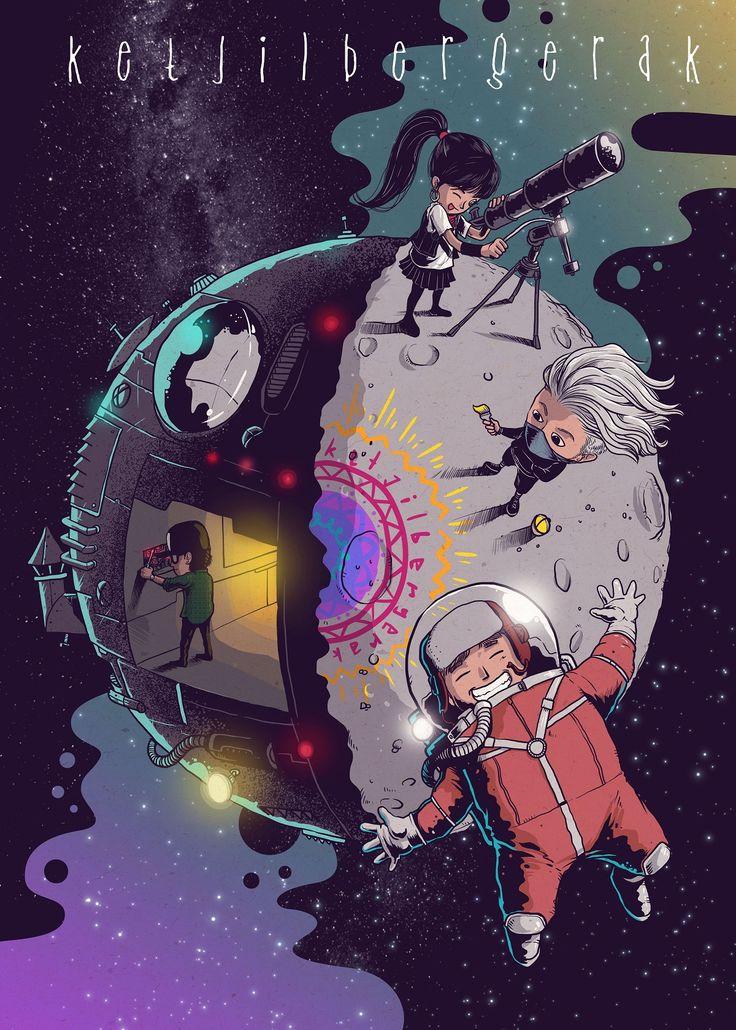 Kat, Are, Bit dan Ebo jalan-jalan ke bulan! Siapa mau ikut?