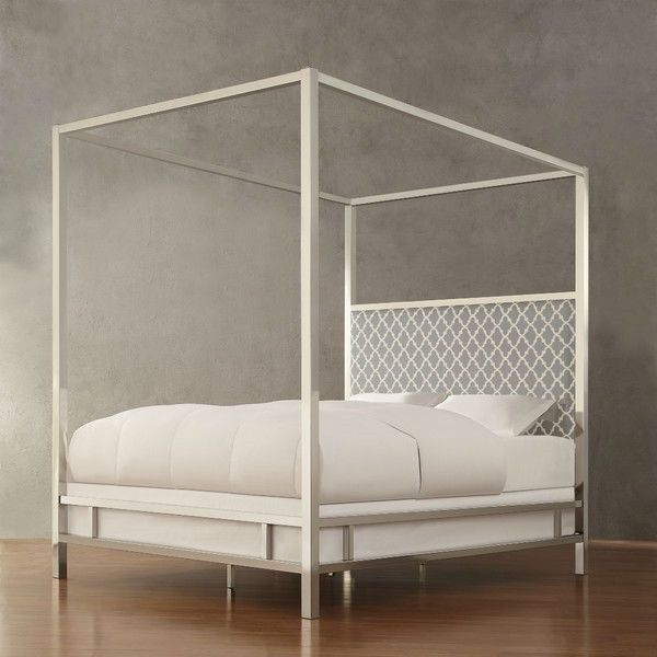 hearts attic full size modern canopy bed 835 liked on polyvore featuring home