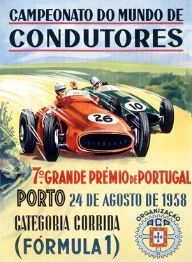 1958 Portugal gran prix F1 Vintage design Very, very cool http://delitodeopiniao.blogs.sapo.pt/