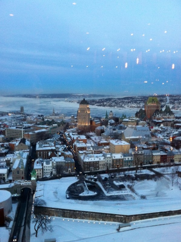 View of Quebec City from Hilton hotel