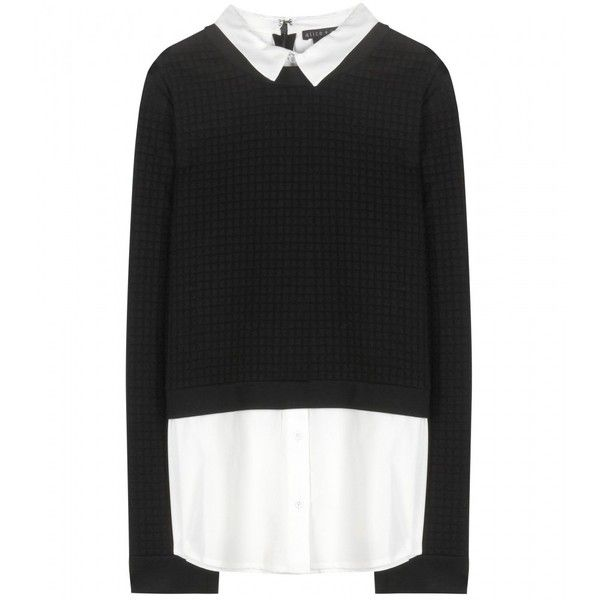 Alice + Olivia Faux Layered Sweater found on Polyvore
