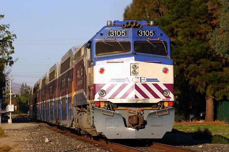 Altamont Commuter Express MPI F40PH-3C #3105 in Pleasanton, California