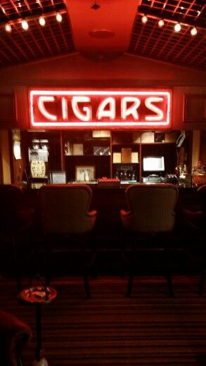 The downstairs cigar bar at New York's Nat Sherman's. A favorite hangout for city cigar lovers.