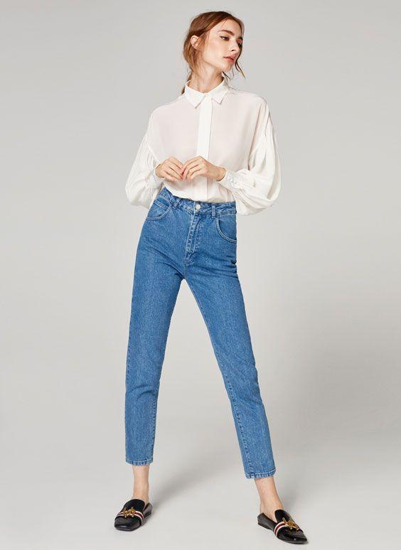 Uterqüe España Product Page - Colección - Camisas y blusas - Camisa manga abullonada - 79