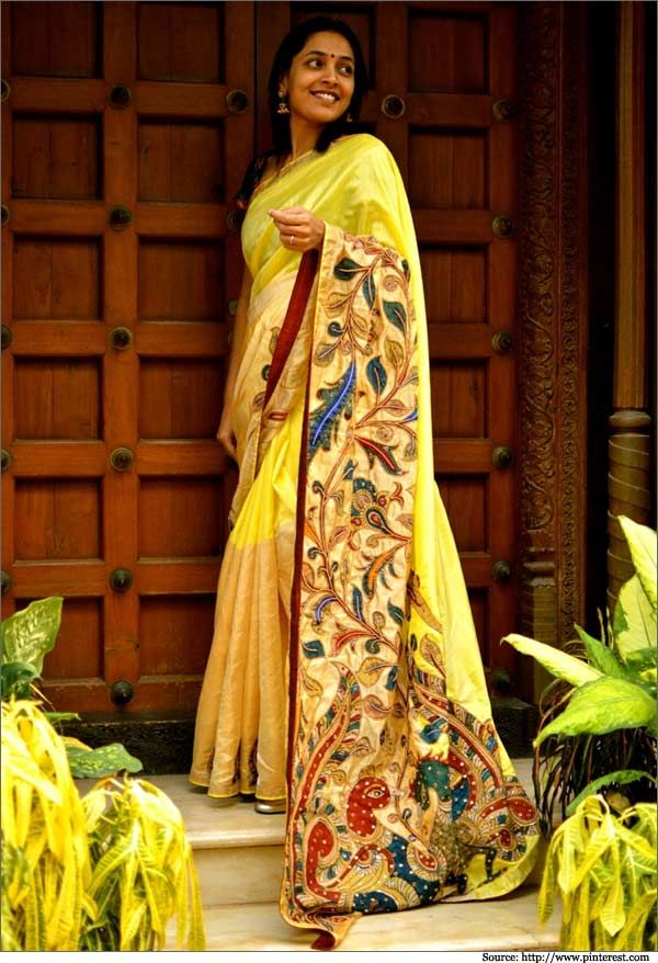 Kalamkari is the art of hand painting and/or block printing on fabrics with the help of natural dyes, produced in parts of India and Iran.