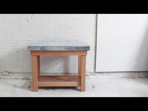 Så här gör du en snygg köksö med bordsskiva i betong - Sköna hem