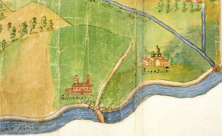 Particolare cartografico del territorio Mantovano - Mantova Archivi di Stato - Archivio Gonzaga b. 91 c. 36 -