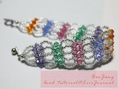 Tutorial Crystal Bracelet 9 Bestbeads Friends Beaded Designs Pinterest Beads Bracelets And