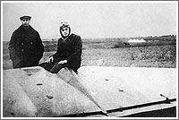 Sergei Korolev with the BICh-8 glider in Moscow in 1931. Credit: Natalya Koroleva. (241)