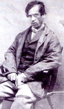 Mugshot of Joseph Smedley who deliberately torched a stack of straw and waited for the police. The meagre rations 'inside' were preferable to starvation outside – Yorkshire 1861.