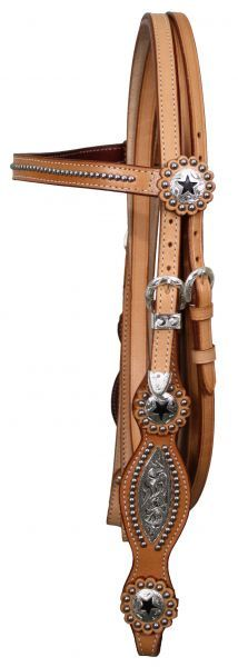 Western Bridle With Silver Inlaid Cheeks and Reins    $44.95