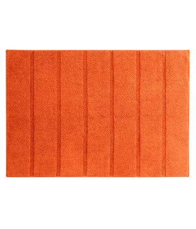 Bath mat in thick cotton terry with a stripe weave texture. The 25  best Orange bath mats ideas on Pinterest   Orange