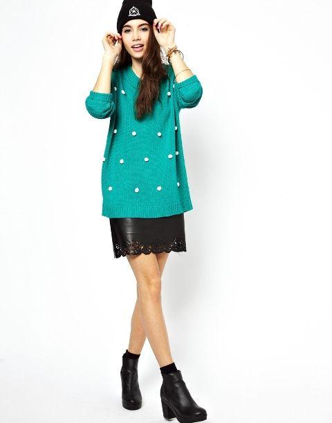 15 Frauen Outfits mit Pom Pom Pullover – Fashion Tipps