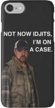 Supernatural - Bobby Singer - Not now Idjits, I'm on a case - Phone case  iPhone 7 Cases