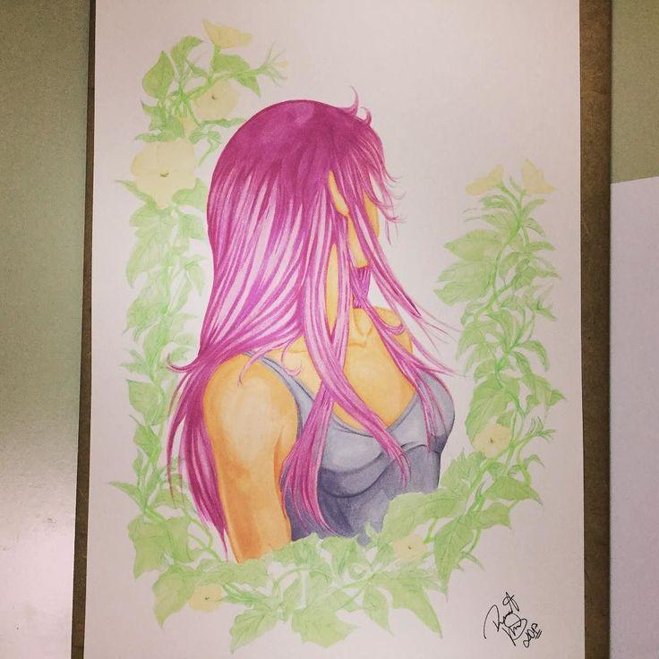 Artwork... Saori?  #finalart #finalartwork #artefinal #copic #markers #marcador #saintseiya #saori #cavaleirosdozodiaco #caballerosdelzodiaco #arte #art #ilustração #illustration #artwork #artworks