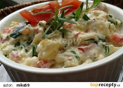 Cuketový salát - nebo pomazánka ? recept - TopRecepty.cz