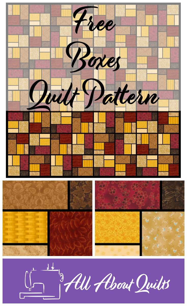 Are you looking for a simple & free pattern to make your next quilt - here is  a pattern based on squares and rectangles for you to use - enjoy!