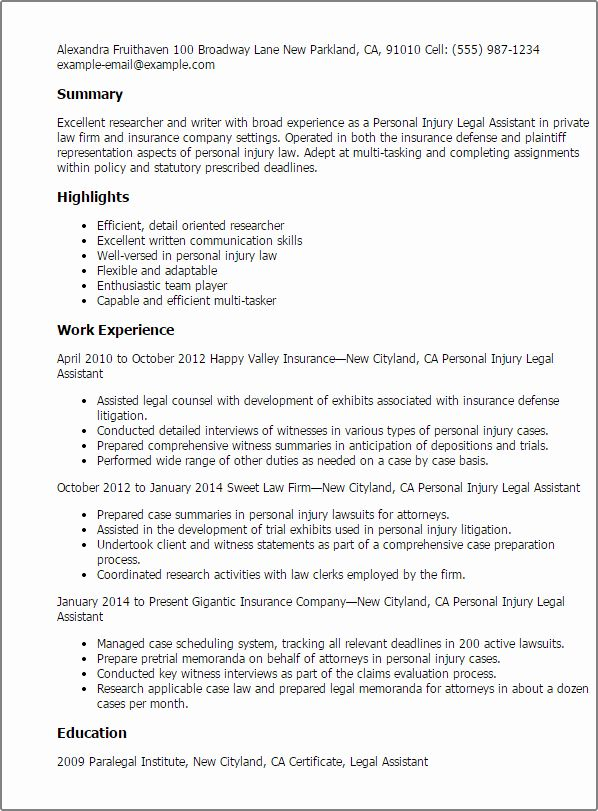 23 Legal Assistant Resume Examples In 2020 With Images Student