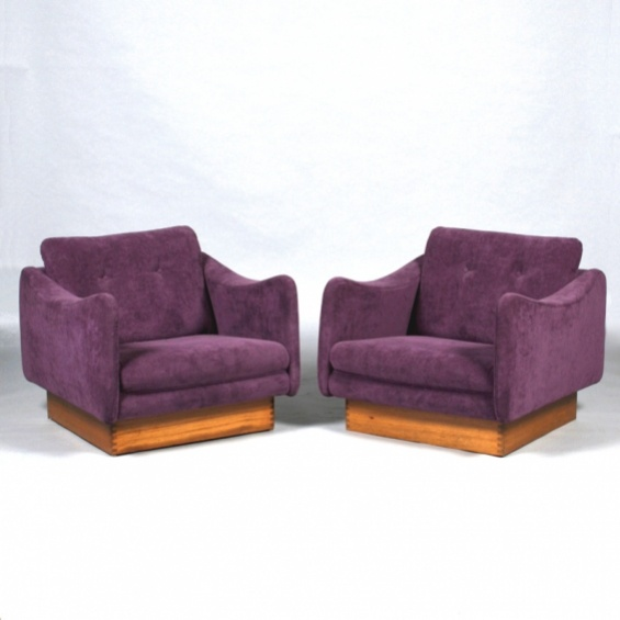 PAIR ARMCHAIRS BY MICHEL MORTIER | Caira Mandaglio