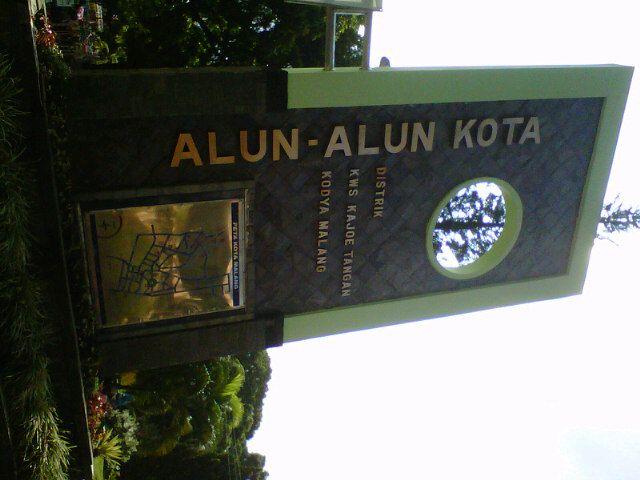 Alun-Alun Kota Malang di Malang, Jawa Timur