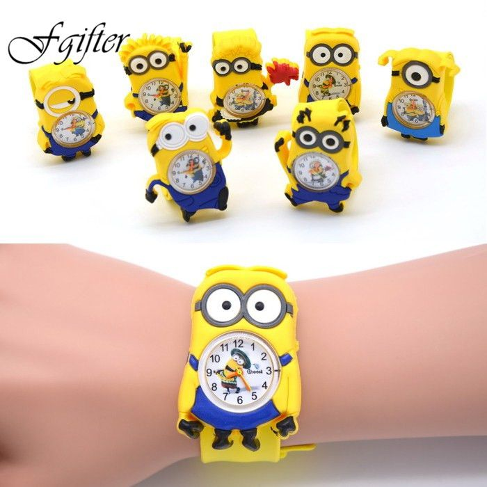 3D Eye Despicable Me minion Cartoon watch Precious Milk Dad Cute Children clock Baby kid Quartz Wrist Watches for Girls Boys #>=#>=#>=#>=#> Click on the pin to check out discount price, color, size, shipping, etc. Save and like it!