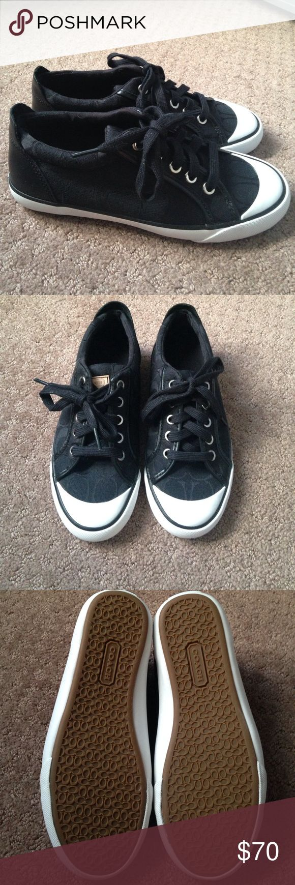 Coach sneakers Never worn black Coach sneakers no box Coach Shoes Sneakers