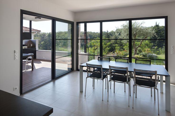 fen tres aluminium initial s 39 ouvrir l 39 l gance baie vitr e pinterest more initials ideas. Black Bedroom Furniture Sets. Home Design Ideas