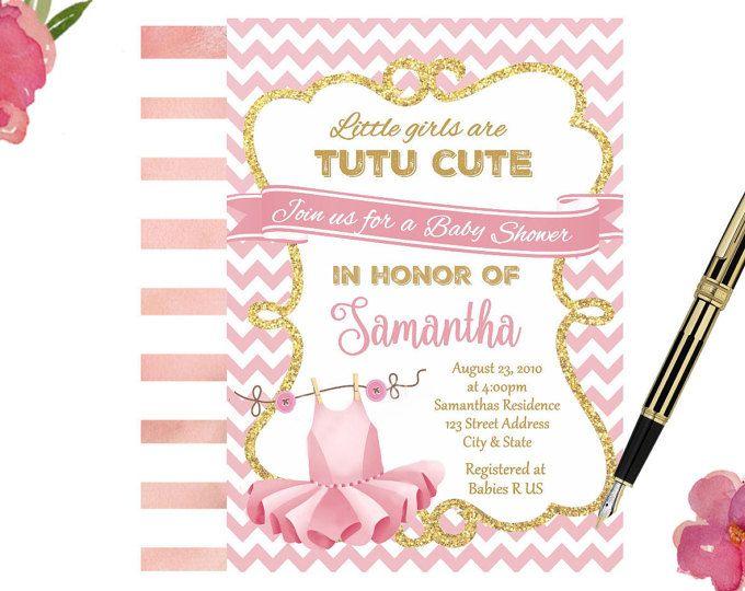 Tutu Baby Shower Invitation, Ballerina Baby Shower Invitations, Tutu Invitations, Tutu Cute Baby Shower Invitations, Ballerina Invitation