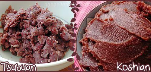 anko-marmellata di fagioli rossi, bianchi e verdi