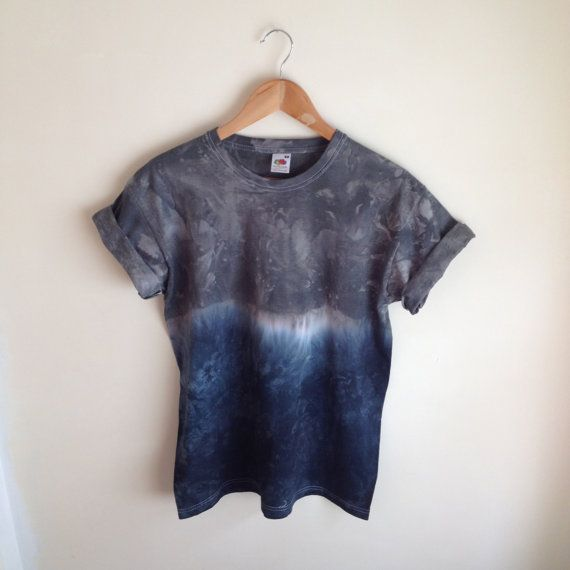 Dip Dye Tie Dye TShirt Unisex Various colours by JessIrwinClothing