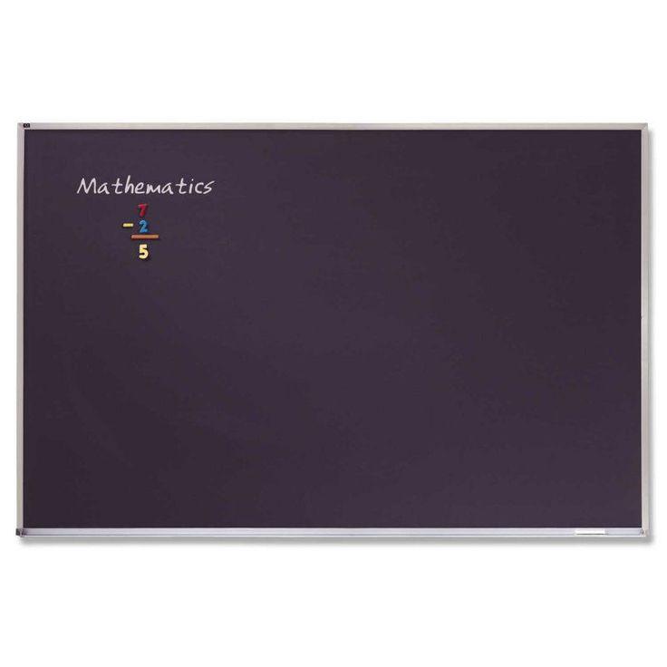 Quartet Porcelain Black Magnetic Chalkboard with Aluminum Frame - 144 x 48 in. - PCA412B