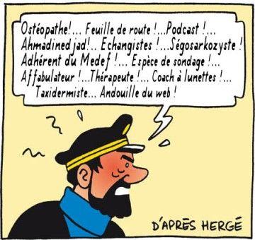 Jurons du Capitaine Haddock dans Tintin, d'Hergé.