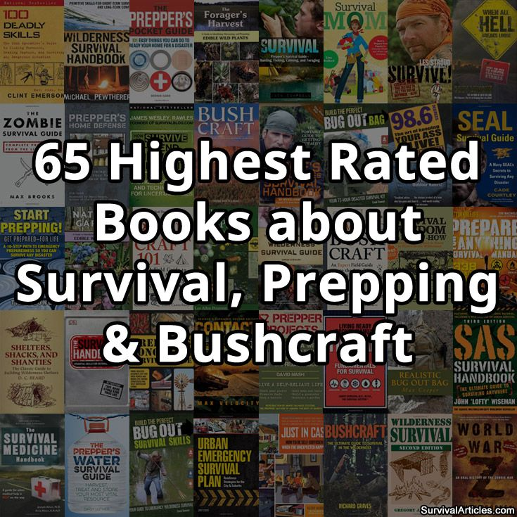 65 Highest Rated Books about Survival, Prepping & Bushcraft